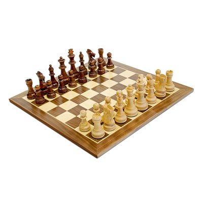 WOOD EXPRESSIONS STAUNTON WOOD CHESS SET