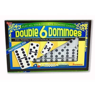 UNIVERSITY GAMES DOUBLE 6 DOMINOES