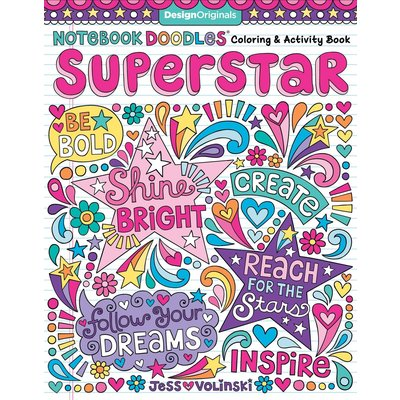 FOX CHAPEL PUBLISHING NOTEBOOK DOODLES SUPERSTAR