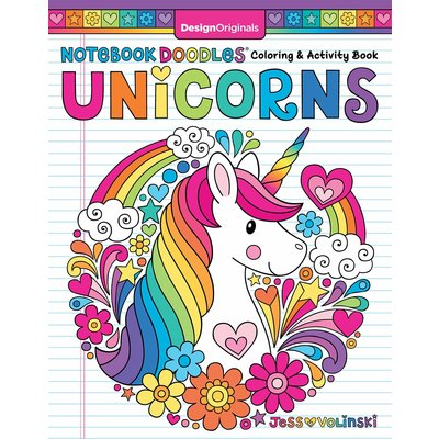 FOX CHAPEL PUBLISHING NOTEBOOK DOODLES UNICORNS
