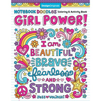 FOX CHAPEL PUBLISHING NOTEBOOK DOODLES GIRL POWER