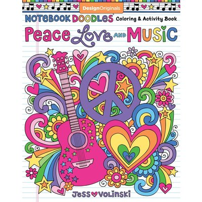 FOX CHAPEL PUBLISHING NOTEBOOK DOODLES PEACE, LOVE, MUSIC