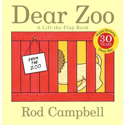 SIMON AND SCHUSTER DEAR ZOO A LIFT-THE-FLAP BOOK BB CAMPBELL