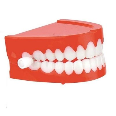 TOYSMITH CHATTERING TEETH WIND UP**