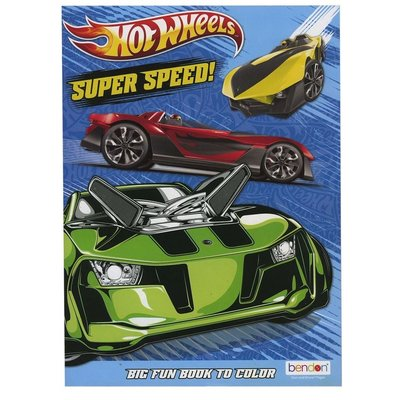 MASTER TOY HOT WHEELS COLORING BOOK