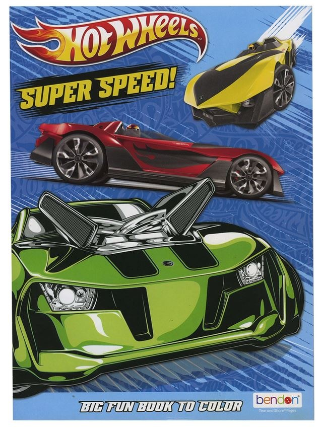 HOT WHEELS COLORING BOOK - THE TOY STORE