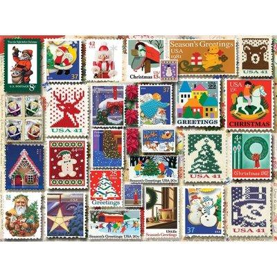 WHITE MOUNTAIN PUZZLE CHRISTMAS STAMPS 1000 PC PUZZLE