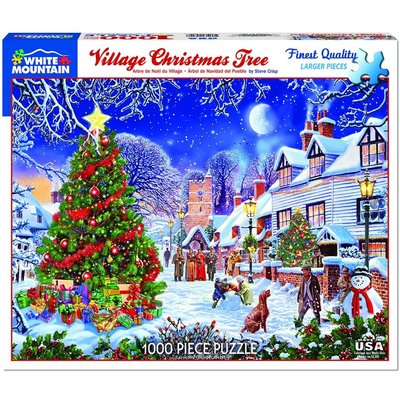 WHITE MOUNTAIN PUZZLE VILLAGE CHRISTMAS TREE 1000 PIECE