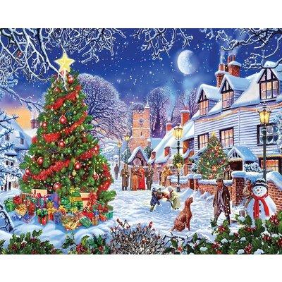 WHITE MOUNTAIN PUZZLE VILLAGE CHRISTMAS TREE 1000 PC PUZZLE