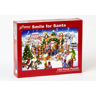 SMILE FOR SANTA 100 PC PUZZLE