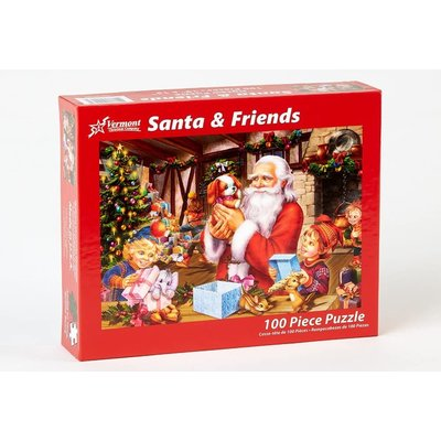 SANTA & FRIENDS 100 PC PUZZLE