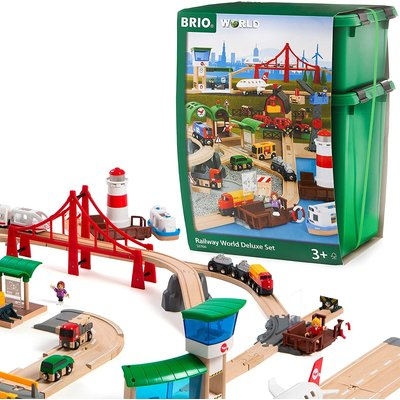 BRIO BRIO RAILWAY WORLD DELUXE SET