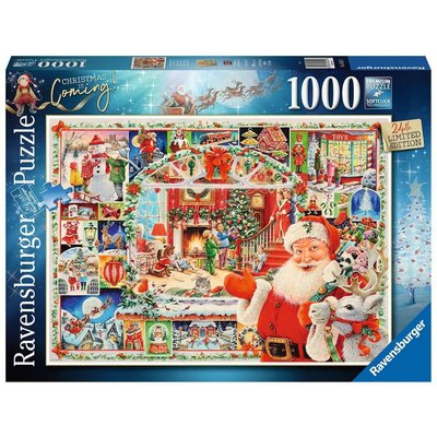 RAVENSBURGER USA CHRISTMAS IS COMING! 1000 PC PUZZLE