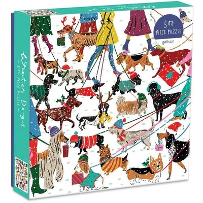 GALISON WINTER DOGS 500 PC PUZZLE