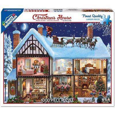 WHITE MOUNTAIN PUZZLE CHRISTMAS HOUSE 1000 PC PUZZLE