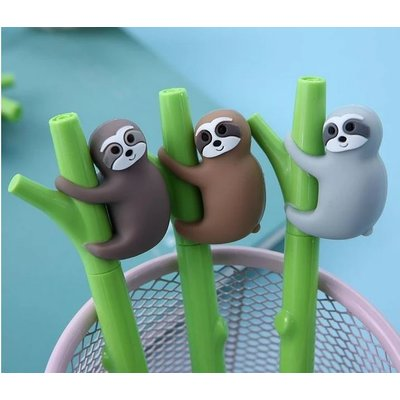 BC USA FINELINE GEL PEN SLOTH ON BAMBOO