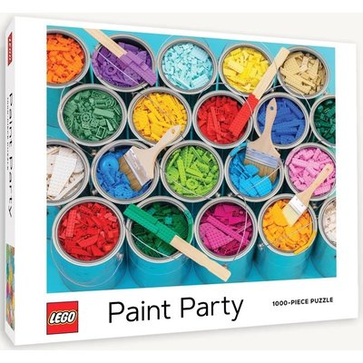 CHRONICLE PUBLISHING LEGO PAINT PARTY PUZZLE 1000 PIECE