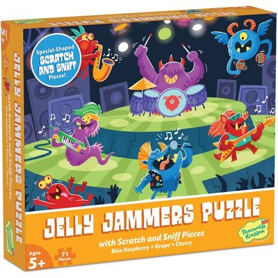 PEACEABLE KINGDOM JELLY JAMMERS SCRATCH & SNIFF PUZZLE