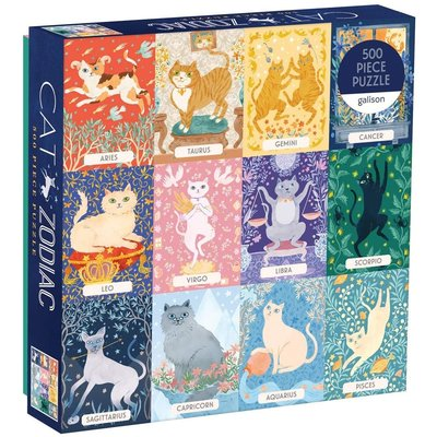 GALISON CAT ZODIAC PUZZLE 500 PIECE