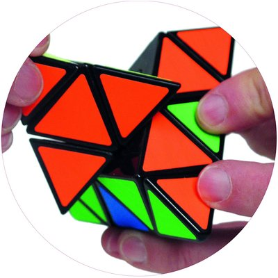 PROJECT GENIUS PYRAMINX BRAIN PUZZLE