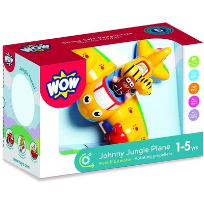 WOW TOYS USA JOHNNY JUNGLE PLANE WOW