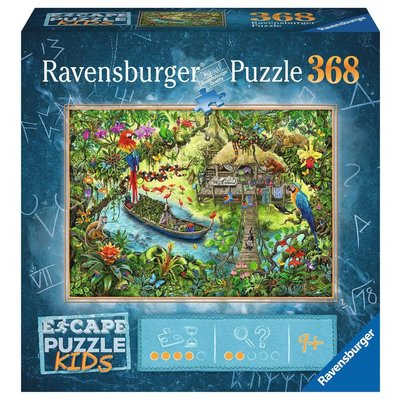 RAVENSBURGER USA JUNGLE ESCAPE PUZZLE 368 PIECES