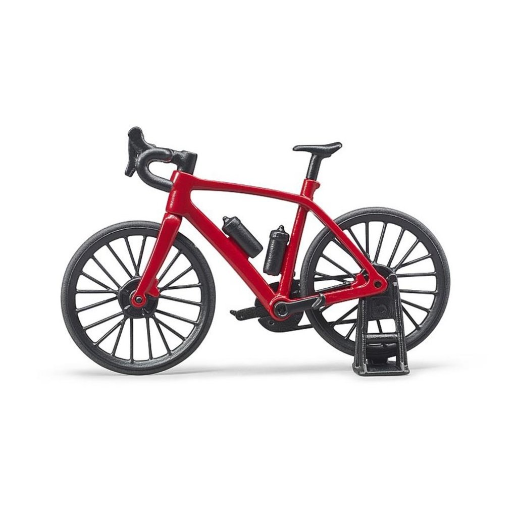 BRUDER TOYS AMERICA ROAD BIKE WITH CYCLIST