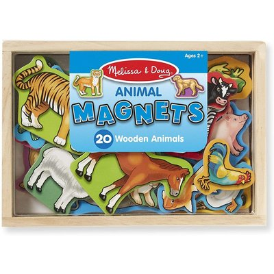 MELISSA AND DOUG WOODEN ANIMAL MAGNETS
