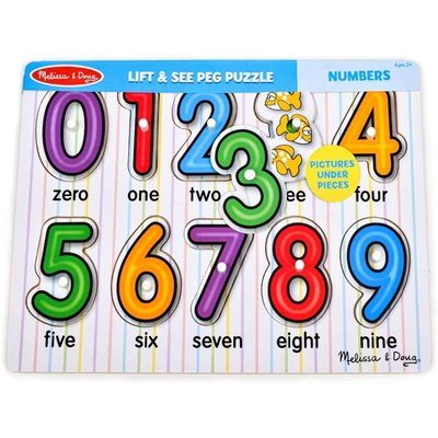 MELISSA AND DOUG SEE INSIDE NUMBER PEG PUZZLE