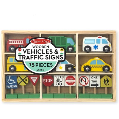 MELISSA AND DOUG VEHICLES & TRAFFIC SIGNS*