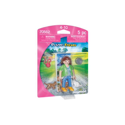 PLAYMOBIL GIRL WITH KITTENS