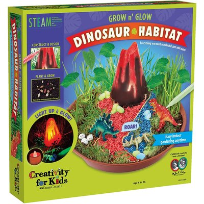 CREATIVITY FOR KIDS GROW N GLOW DINOSAUR HABITAT