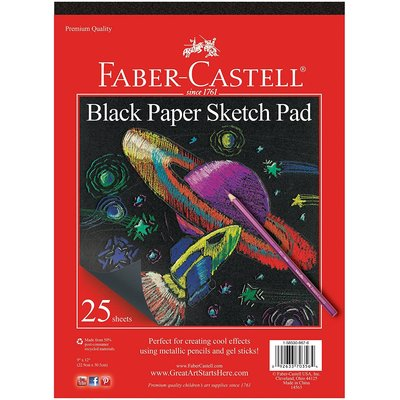 FABER CASTELL BLACK PAPER PAD