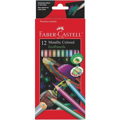 FABER CASTELL METALLIC COLORED ECOPENCILS