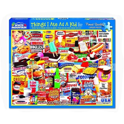 WHITE MOUNTAIN PUZZLE THINGS I ATE AS A KID 1000 PIECE
