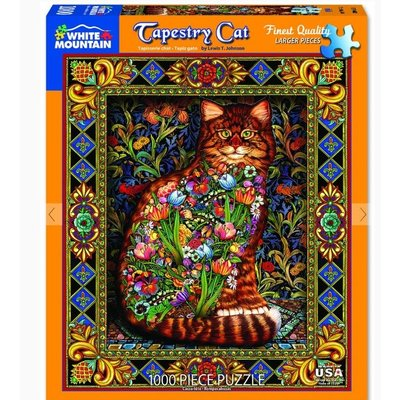 WHITE MOUNTAIN PUZZLE TAPESTRY CAT 1000 PIECE