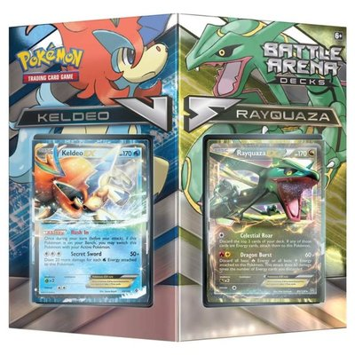 POKEMON INTERNATIONAL POKEMON TCG BATTLE ARENA DECKS: RAYQUAZA VS KELDEO