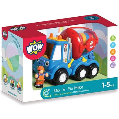 WOW TOYS USA MIX N FIX MIKE CEMENT MIXER