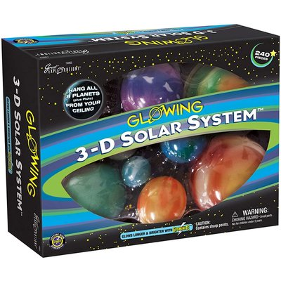 UNIVERSITY GAMES GLOWING 3D SOLAR SYSTEM