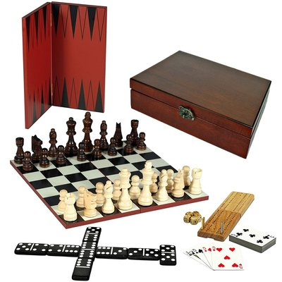 WOOD EXPRESSIONS 7 IN 1 COMBINATION GAME SET