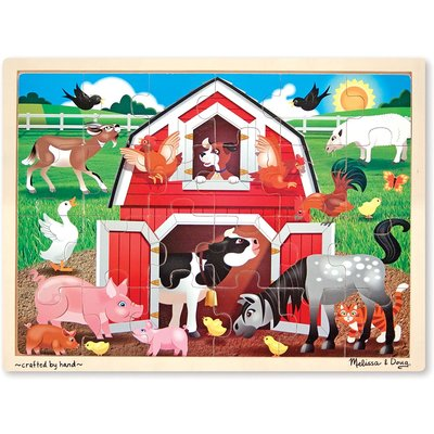 MELISSA AND DOUG BARNYARD JIGSAW PUZZLE 24 PIECE