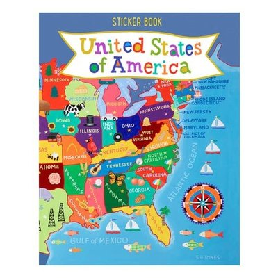 ROUND WORLD PRODUCTS STICKER BOOK UNITED STATES