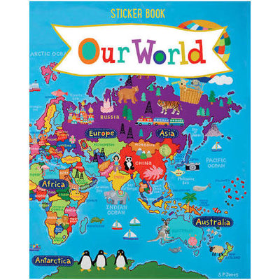ROUND WORLD PRODUCTS STICKER BOOK WORLD