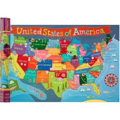ROUND WORLD PRODUCTS KIDS UNITED STATES WALL MAP