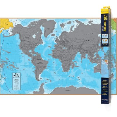 ROUND WORLD PRODUCTS SCRATCH OFF WORLD MAP
