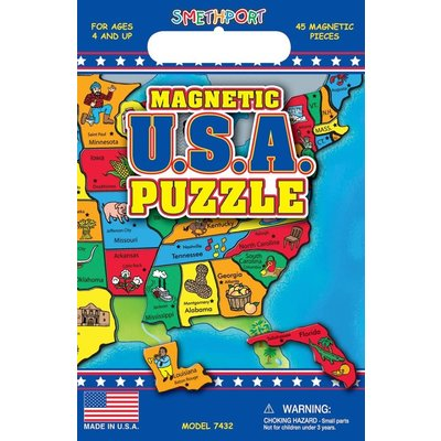PLAYMONSTER CREATE A SCENE MAGNETIC USA PUZZLE
