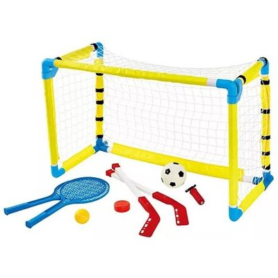 NATIONAL SPORTING GOODS 3 IN 1 COMBO SOCCER, TENNIS, HOCKEY