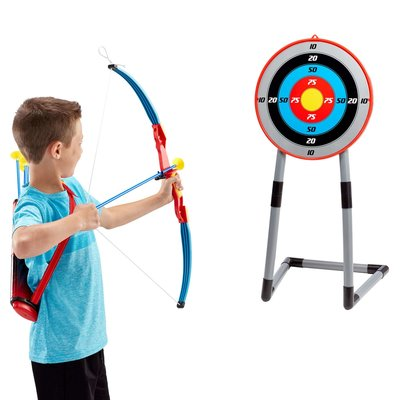 NATIONAL SPORTING GOODS DELUXE ARCHERY SET WITH TARGET