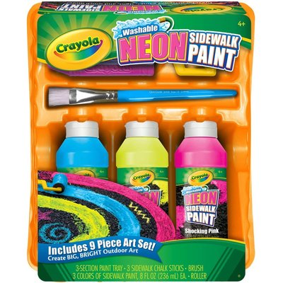 CRAYOLA WASHABLE NEON SIDEWALK PAINT