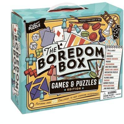 PROFESSOR PUZZLE THE BOREDOM BOX GAMES & PUZZLES